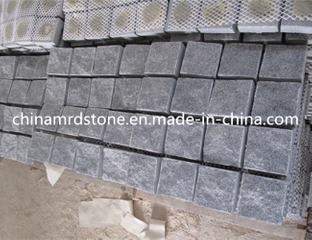 Popular barato G654 Sesame Black Granite Cobble para el jardín