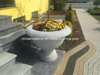 Flor Pot Stone Carving Granite para Gardening