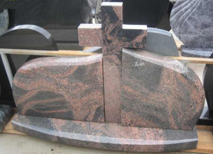 Aurora Granite Cross Headstone con Good Quality