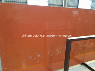 Slab anaranjado Stone Quartz con First Grade Quality