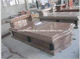Arce Red Granite Tombstone Slab para Market europeo