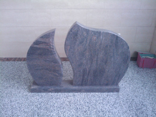 Nuevo Design Vizag Blue Granite Tombstone para Alemania