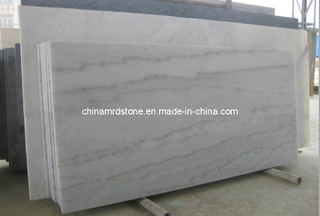Polished precortado Guangxi White Marble Slab para Bathroom Countertop