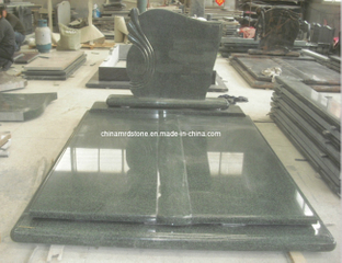 G654 China Impala Black Granite Double Tombstone para Hungría Market