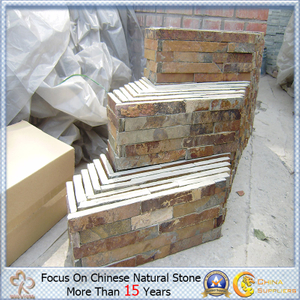 Quartzite oxidado Ledgestone para Exterior Wall Decorative