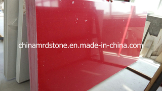 Chispa Red Artificial Quartz para Tile o Countertop Slab