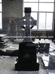Shanxi Black Granite Cross céltico Monument para Rumania Market