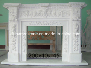 Hand Carved Marble Stone Fireplace for Indoor Decoration