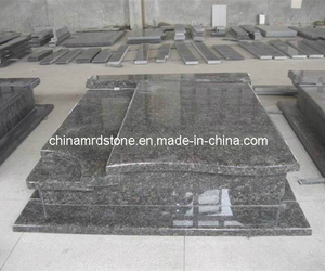 Tan Brown Double Style Granite Grave Monuments para Polonia Market