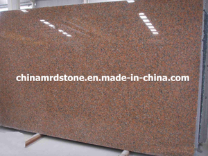 Maple precortado Red Granite Gang Saw Slab para la Arabia Saudita