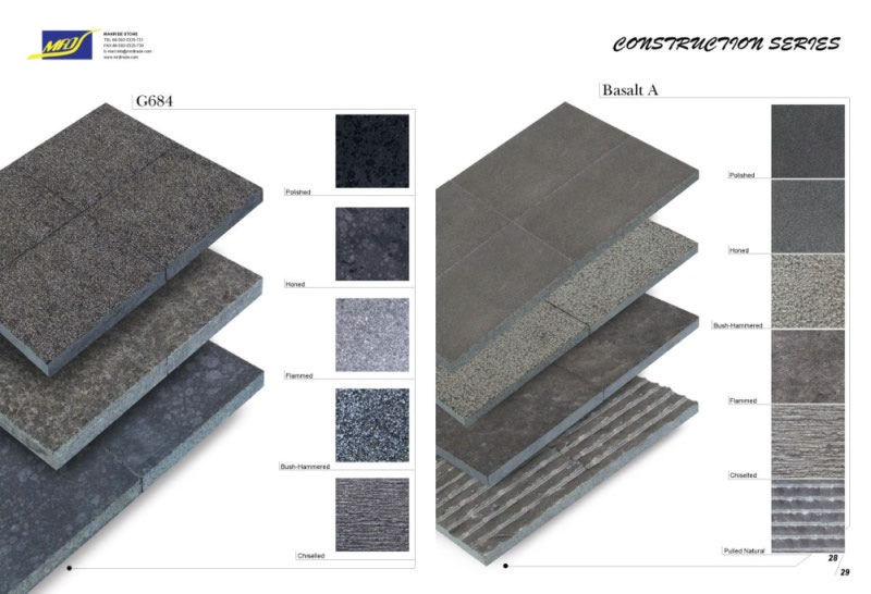 Black natural Basalt para Tile y Paving Stone/Paver