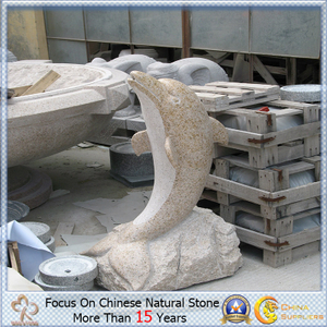 Granite natural Stone Animal Carving con Dolphin Shaped