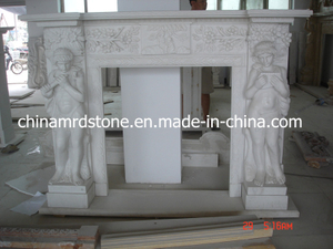 Dar el lugar de Carved Marble Fire para Indoor Decoration