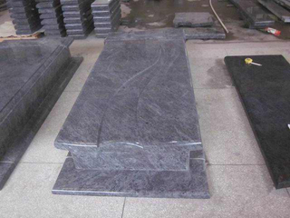 Orion Blue Granite Memorial Monument con River Shape