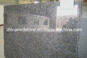 Polished popular Silver Pearl Granite Slab para Shower Wall