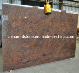 Multicolor precortado Red Granite Slab para Countertop o Tombstone
