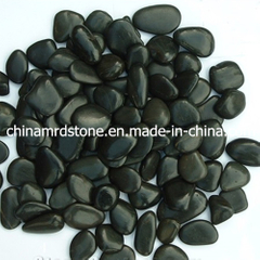 Polished al por mayor Black Pebble y Cobble para Graden Stone